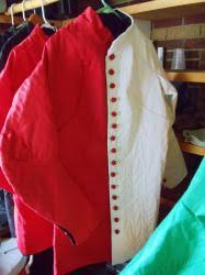 White and Red Party color Arming cote- Size large and size XL